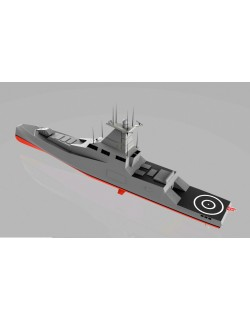 100 meter reverse bow navy frigate