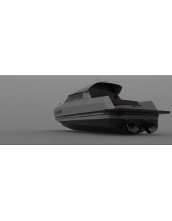 15 m Closed Motorboat Design