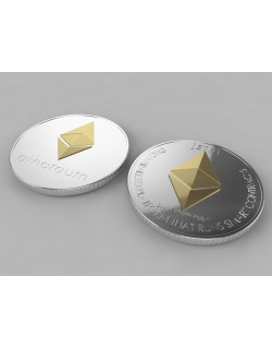 3D Ethereum ETH Crypto Coin model