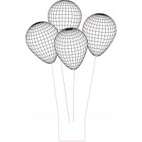 3d led lamp ballons vector