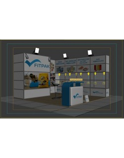 3d modular exhibition stand