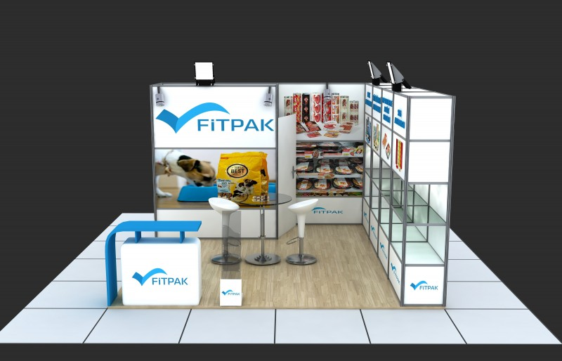 Modular Exhibition Stands Designs : D modular exhibition stand d model for download