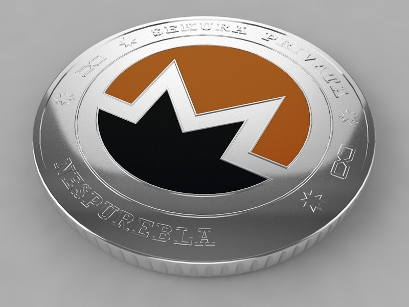 3D Monero XMR Crypto Coin model