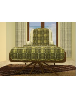 3ds max green sofa model 3D model