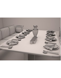 3ds restaurant table model 3D