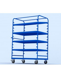Adjustable portable cart