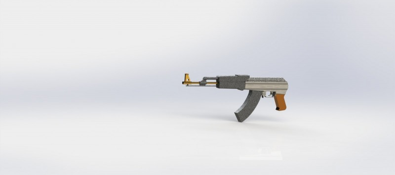 Ak-47 CAD, ready for games