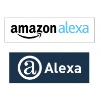 Amazon and Alexa Logo Vector Drawing