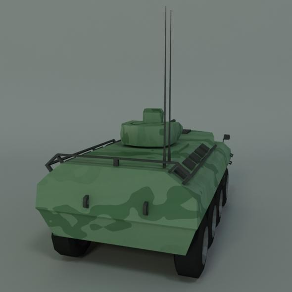 army_vehicle_pars8x8_low_poly