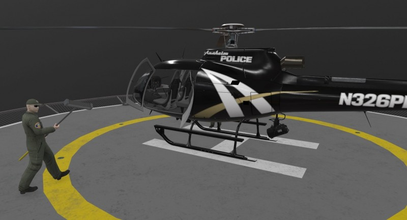 AS-350 Anaheim Police Animated