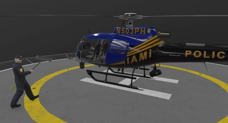 AS-350 Miami City Police Animated