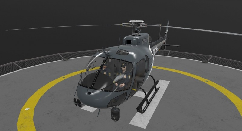 AS-350 Oklahoma City Police Animated