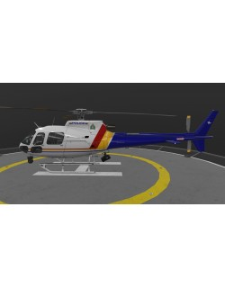 AS-350 Royal Canadian Mounted Police Animated