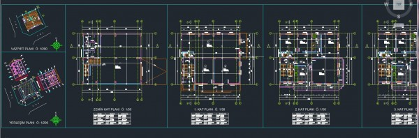 autocad dublex apartment project