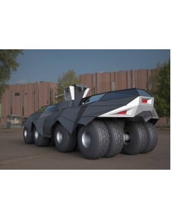 Batmobile tank concept 3ds model