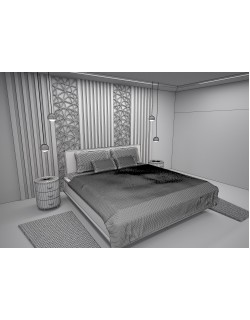 bedroom bed 3ds max model 3D model