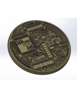 Bitcoin BTC Detailed model 3D print model