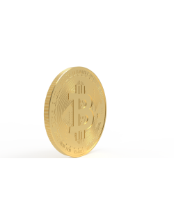 bitcoin high detailed design for 3d machining