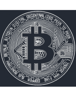 bitcoin high detailed vector draw design