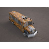 bluebird school bus war 3D model