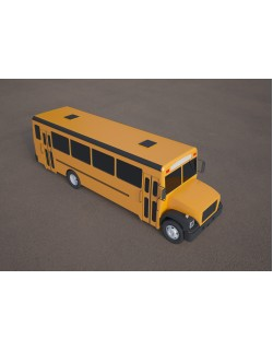 bluebird school bus yellow 3D model