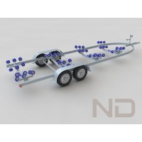 BOAT TRAILER , TANDEM AXLES