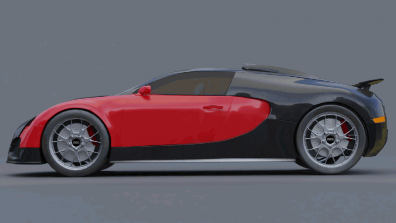Bugatti veyron 3D Model for Download