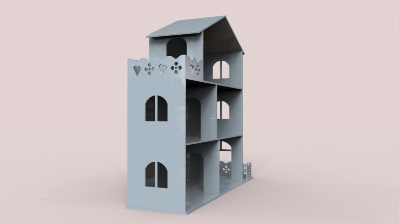 Build a Doll house cnc or laser cut templates - 2