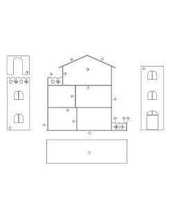 Build a Dollhouse cnc or laser cut templates - 2