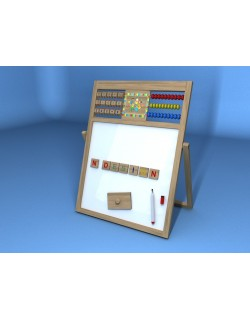 CAILLOU ABACUS WOOD WHITEBOARD