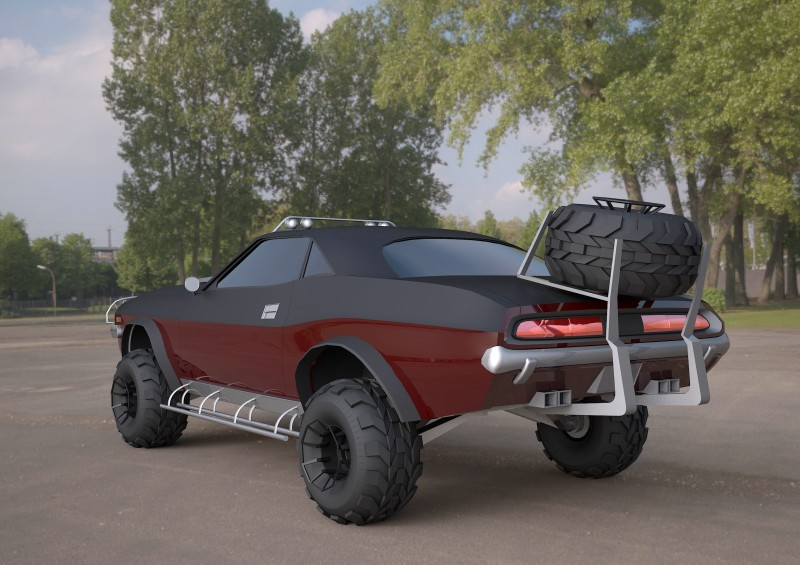 challenger-1970-suv 3ds max model 3D model