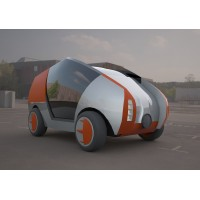 citroen concept electric 3d car 3D model
