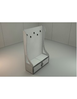 coat hanger-coat stand 3d model with floral pattern 3D model