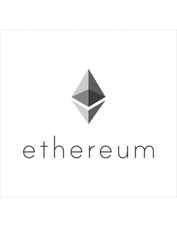 ethereum coins 2D vector drawing logo