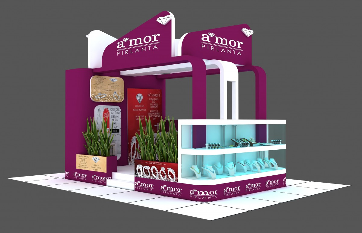 Exhibition Stand 3d Model : Exhibition stand 3d model for download