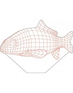 Fish 3d illusion vector file