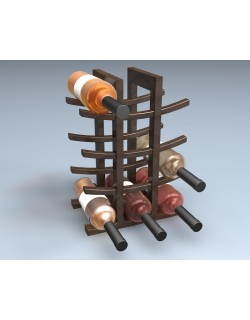 Floor Wine Rack 3D model
