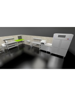 Full System Vegetable preparation kitchen 3D model