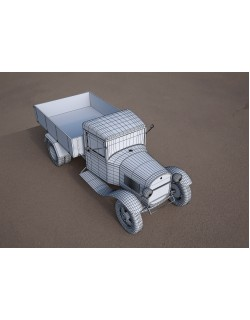 gaz-aa vintage van vehicle truck 3D model