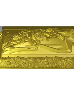 girl patterned engraved box  relief pattern