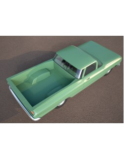 green classic car 3ds model 3D model