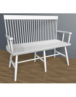 HIGH BACK BENCH 3D Model