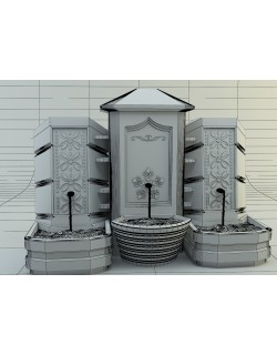historical fountain 3d model 3D model