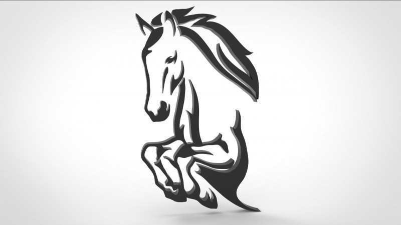 Horse Wall Decoration 3d model