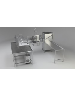 Industrial Dishwashing System