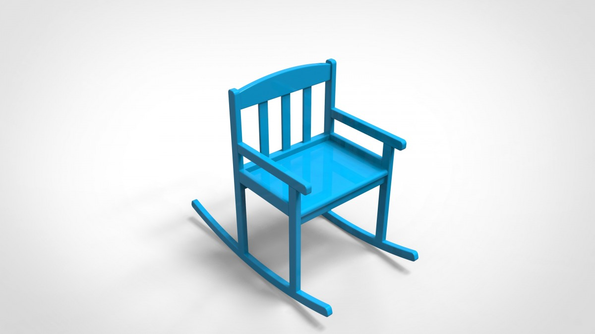 Kids rocking chair 3D Model for Download