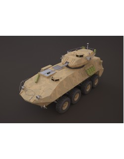 LAV-25 military vehicle 3ds max 3D model