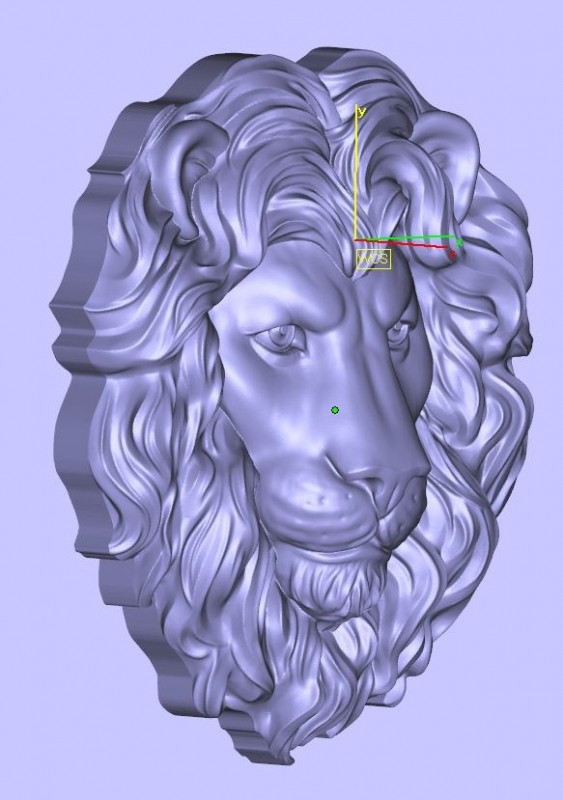 Lion head bas-relief. Element for jewelry.