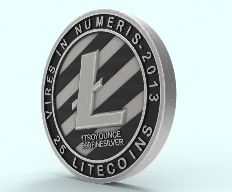 Litecoin LTC 3d model