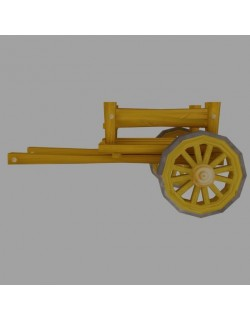 low poly cart model